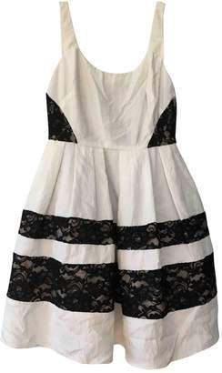 ABS by Allen Schwartz White Cotton Dress for Women