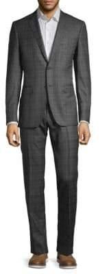 Canali Plaid Slim-Fit Wool Suit