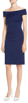 Ralph Lauren Austine Off-the-Shoulder Sheath Knee-Length Dress