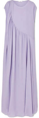 The Row Medea Asymmetric Washed-silk Gown - Lilac