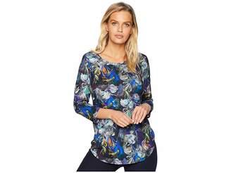 Karen Kane 3/4 Sleeve Shirttail Top