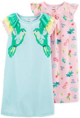 Carter's Carter Little & Big Girls 2-Pack Tropical-Print Nightgowns