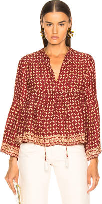Natalie Martin Jerusha Top in Sand Dollar Red | FWRD
