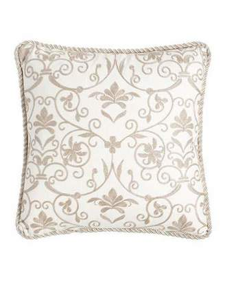 "Isabella Collection by Kathy Fielder Charlotte Embroidered Pillow, 18""Sq."