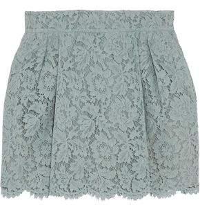 Valentino Silk-Blend Guipure Lace Mini Skirt