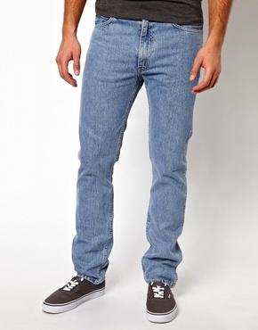 Levi's Jeans 1960 605 Slim Fit Orange Tab Stone Bleach Wash - Medium bleach