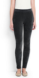 Lands' End Women's Tall Sport Corduroy Leggings-True Navy
