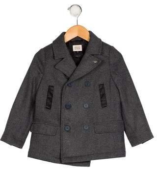 Armani Junior Boys' Notch-Lapel Double-Breasted Coat