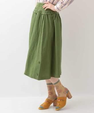 Jocomomola (ホコモモラ) - Jocomomola Papel BOTTOM リネンミックスデザインスカート