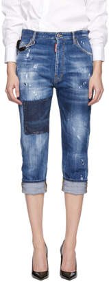 DSQUARED2 Blue Dark Vicious Dennis Jeans
