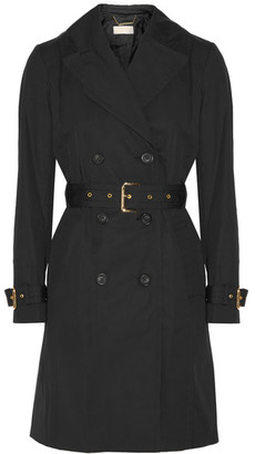 MICHAEL Michael Kors - Cotton-blend Trench Coat - Black $325 thestylecure.com