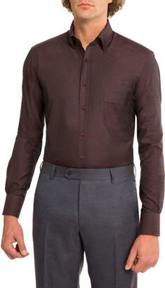 Stefano Ricci Tonal Jacquard Dress Shirt