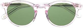 clear Moscot frame sunglasses