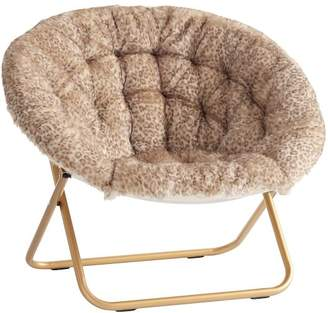 Pottery Barn Teen Baby Leopard Faux-Fur with Gold Base Hang-A-Round Chair