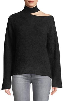 RtA Langley Cutout Turtleneck Mohair-Wool Sweater