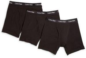 Calvin Klein Underwear Stretch Cotton Boxer Briefs, 3-Pack $42.50 thestylecure.com