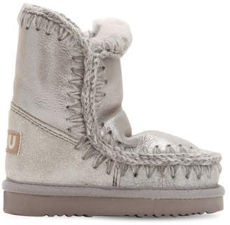 Mou Mini Eskimo Metallic Shearling Boots