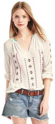 Flowy embroidered crepe top $69.95 thestylecure.com