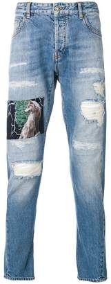 Marcelo Burlon County of Milan distressed skinny jeans