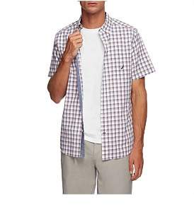 Nautica Short Sleeve Navtech Plaid Shirt