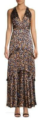 Saloni Rita Ruffle-Trimmed Maxi Dress
