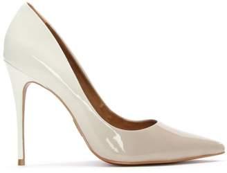 Moda In Pelle Cristina Ombre White Patent Court Shoe