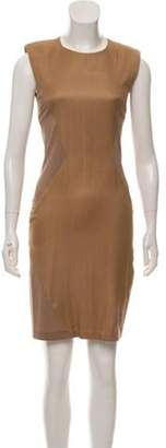 Sally LaPointe Scoop Neck Knee-Length Dress Nude Scoop Neck Knee-Length Dress