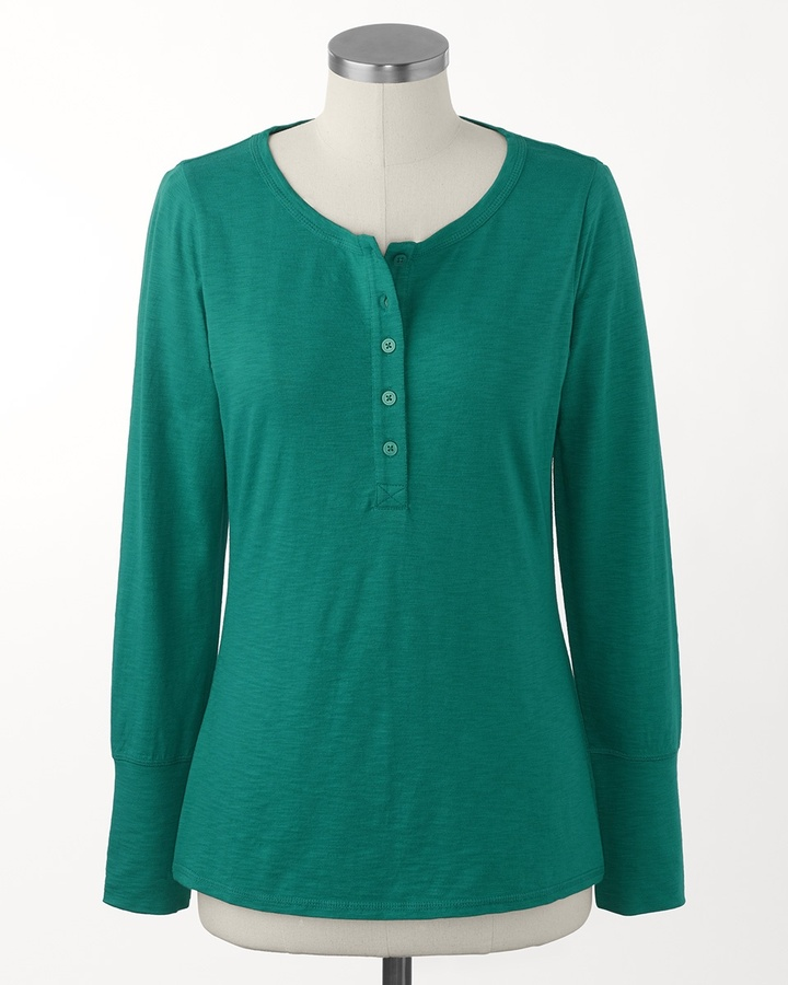 Coldwater Creek Pure Cotton henley tee