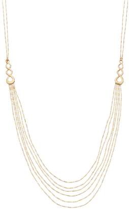 Napier Gold Tone Long Multi Strand Necklace