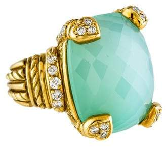 Judith Ripka 18K Chrysoprase & Diamond Cocktail Ring