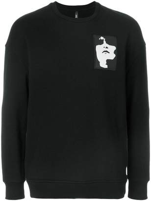 Neil Barrett Siouxsie patch sweatshirt