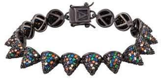 Eddie Borgo Multicolor Pavé Crystal Small Cone Bracelet
