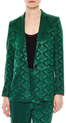 Sandro Jacquard Tailored Jacket