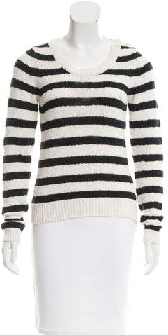 See By Chloe See by Chloé Striped Scoop Neck Sweater