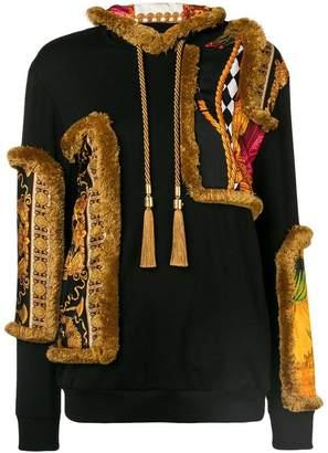 Versace baroque appliqué hoodie