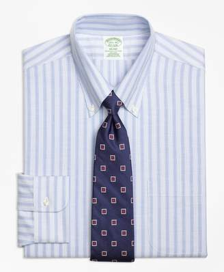 Brooks Brothers BrooksCool Milano Slim-Fit Dress Shirt, Non-Iron Split Stripe
