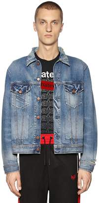 Diesel Boxy Fit Destroyed Cotton Denim Jacket