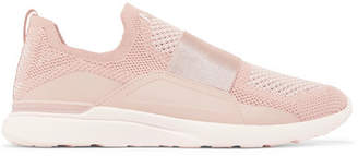 APL Athletic Propulsion Labs Techloom Bliss Mesh And Neoprene Sneakers - Blush