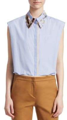 No.21 No. 21 Embellished Poplin Shirt