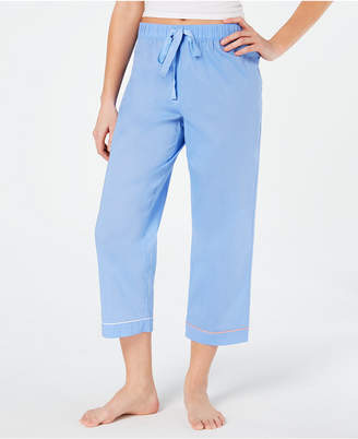 Charter Club Woven Cotton Cropped Pajama Pants