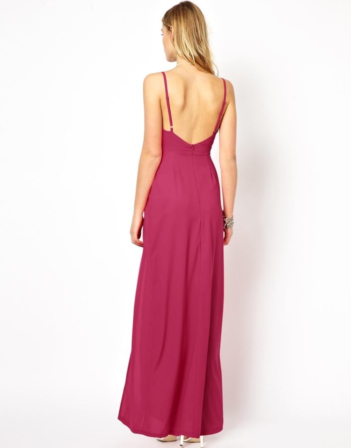 Love Plunge Cami Maxi with Thigh Split