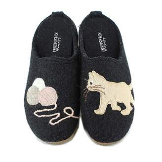 Living Kitzbühel Women's Pantoffel Katze & Wollkneul Open Back Slippers