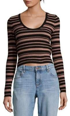 MinkPink Striped Cotton Sweater