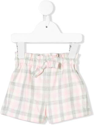 Il Gufo checked tied shorts