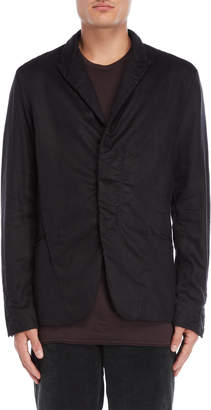 Transit Uomo Black Hidden Button Jacket