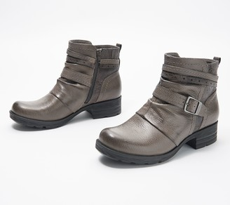 Earth Origins Leather Ankle Boots with Buckle - Randi Roland