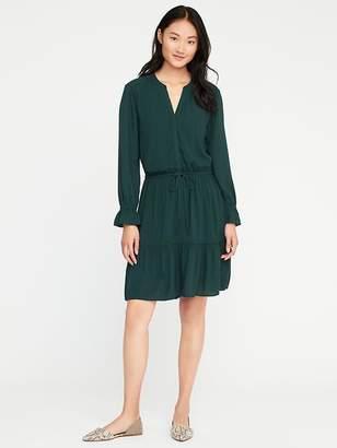 Ruffle-Trim Shirt Dress for Women $36.99 thestylecure.com