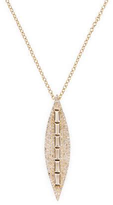 Ef Collection Topaz & Diamond Leaf Necklace