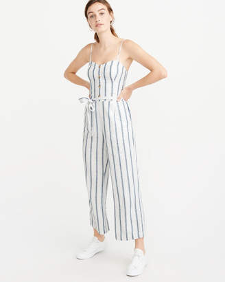 Abercrombie & Fitch Belted Button-Front Jumpsuit