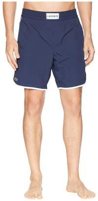 Lacoste Nylon Side Stripe Long Length Men's Swimwear